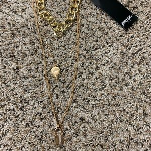 Nasty Gal chunky layered necklace